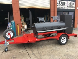 "24"" Brangus Renegade Trailer Smoker - With Warmer"