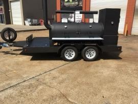 "30"" Trailer BBQ Pit - Warmer - Tandem Axle"